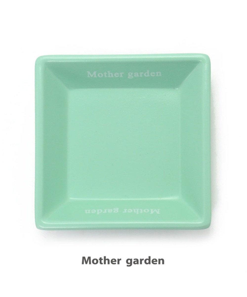 Mother garden マザーガーデン 木製 ままごと おままごと 食器 《角皿・ミント》 0