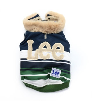 PET PARADISE Lee ボーダー 切替 綿入り ベスト〔小型犬〕 緑 緑