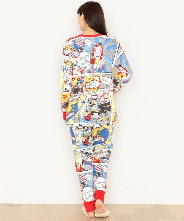 tsumori chisato SLEEP パジャマ ロング袖ロングパンツ アメコミ柄 /ワコール UDR340