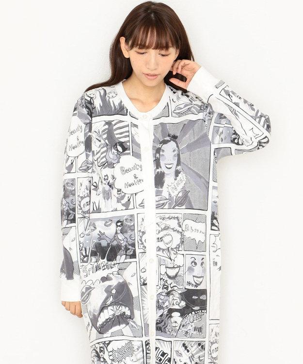 tsumori chisato SLEEP パジャマ 長袖ワンピース&ロングパンツ アメコミ柄 /ワコール UDR341