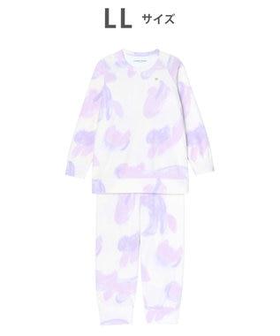 tsumori chisato SLEEP パジャマ ロング袖ロングパンツ フリース ネコヒョウ柄 /ワコール UDR342 ベージュ
