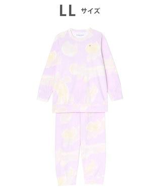 tsumori chisato SLEEP パジャマ ロング袖ロングパンツ フリース ネコヒョウ柄 /ワコール UDR342 ピンク