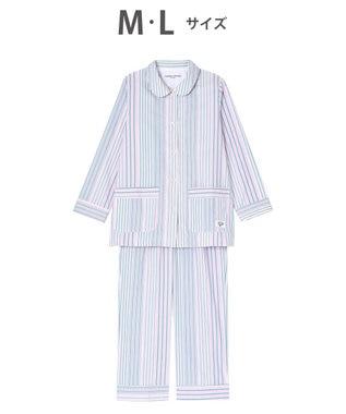 tsumori chisato SLEEP パジャマ ロング袖ロングパンツ ストライプ柄 /ワコール UDR348 ピンク