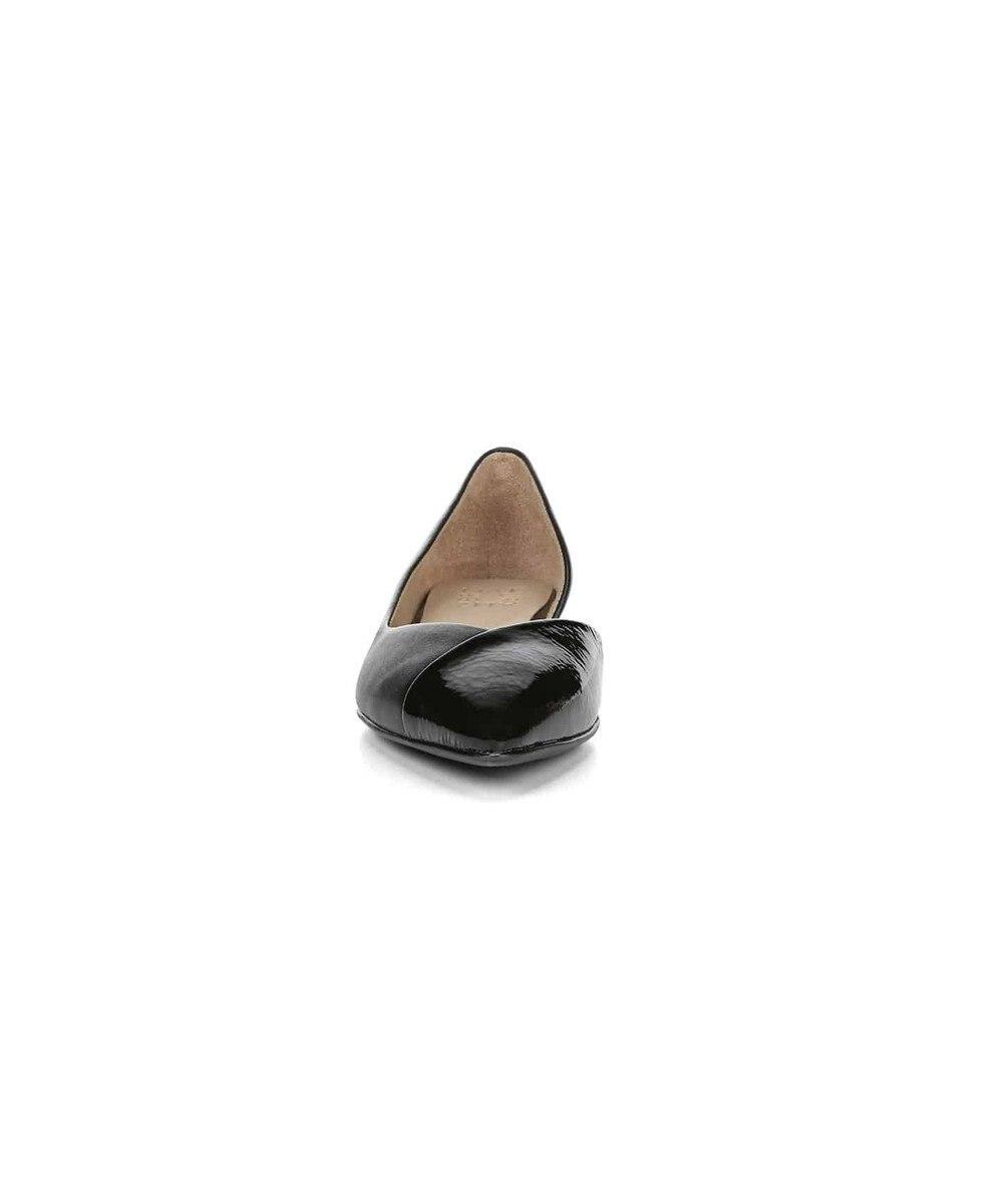 REGAL FOOT COMMUNITY 【ナチュラライザー】N590/Vカット サイドオープン フラットシューズ ブラック系