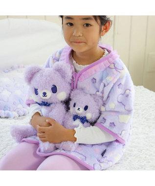 Mother garden くまのロゼット もこもこ ぬいぐるみ 着せ替え 知育玩具 紫