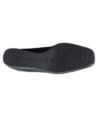 REGAL FOOT COMMUNITY 【ビューフィット】レイン対応ウェッジシューズ ブラックエナメル