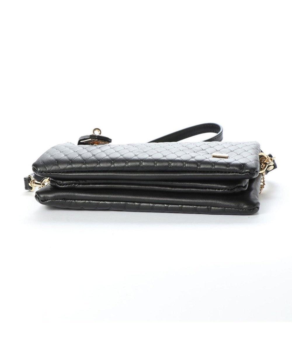 LA BAGAGERIE キルティング型押しお財布ポシェット ブラック