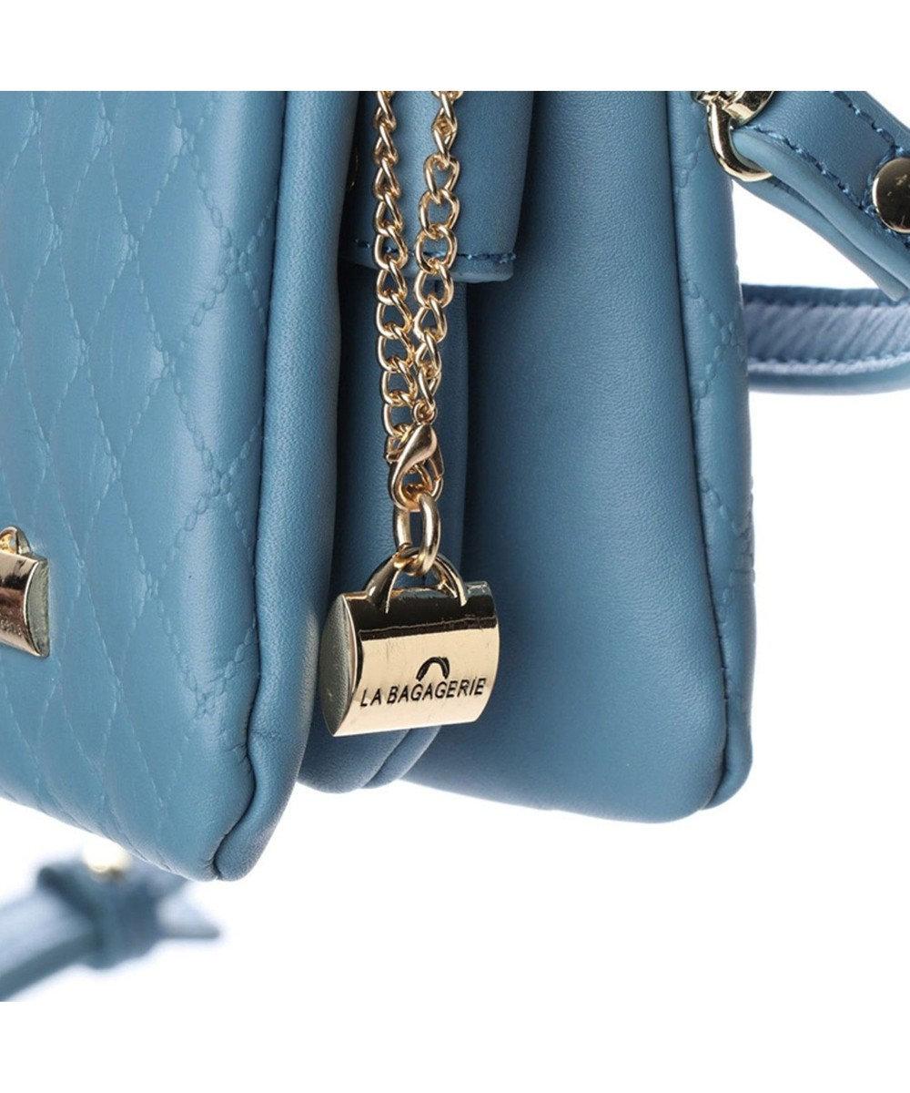 LA BAGAGERIE キルティング型押しお財布ポシェット ブルー