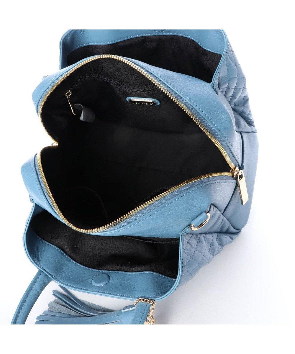 LA BAGAGERIE キルティング型押しトート ブルー