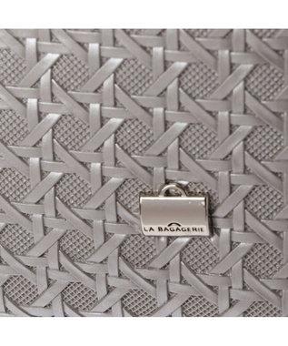 LA BAGAGERIE フレンチファブリック SAFECO 薄マチトートバッグ シルバー