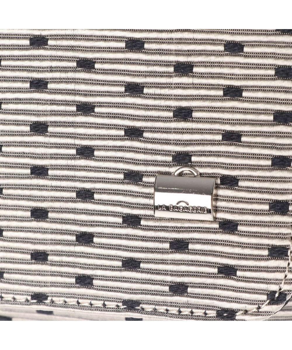 LA BAGAGERIE CAMENGO ドット柄チェーンショルダーバッグ ブラック
