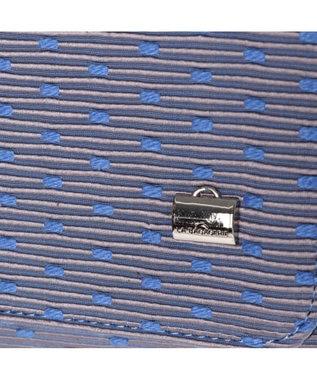 LA BAGAGERIE CAMENGO ドット柄チェーンショルダーバッグ ブルー
