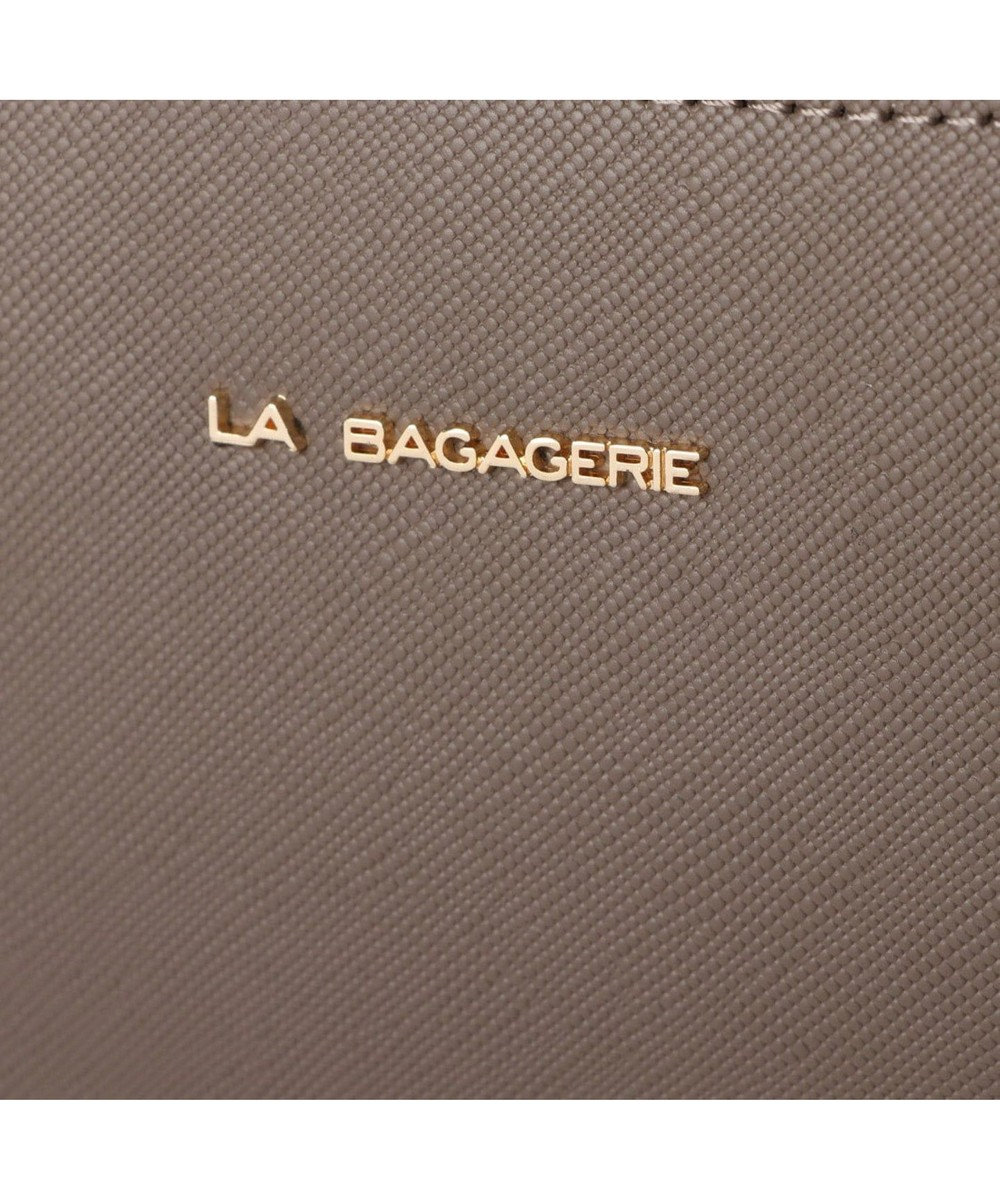 LA BAGAGERIE 型押しレザー リュックサック グレー