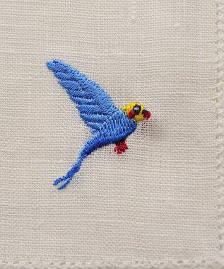 antina gift studio リネンハンカチ ギフトBOX入り(モチーフ) 青い鳥