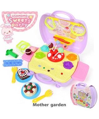Mother garden うさもも 粘土 《スウィーツパーティー》 ねんど遊び用道具セット 0