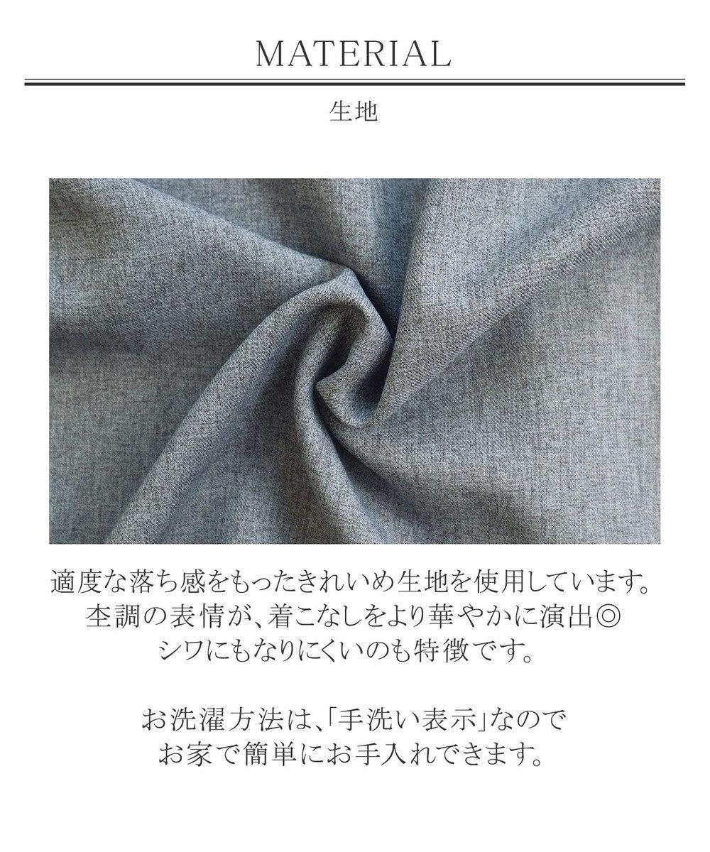Tiaclasse 【新色追加・洗える】スタイルアップも叶う、リボンモチーフワンピース チャコールグレー