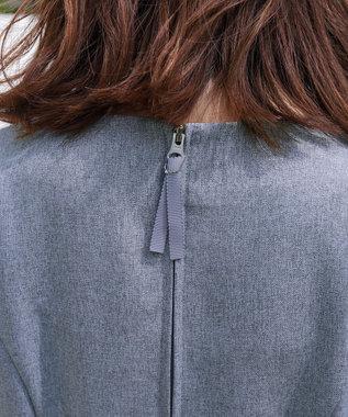 Tiaclasse 【新色追加・洗える】スタイルアップも叶う、リボンモチーフワンピース ネイビー