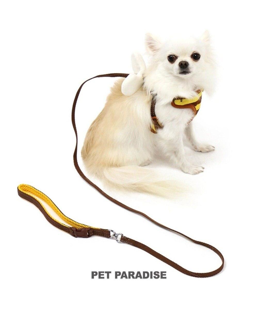 PET PARADISE ペットパラダイス 蜂反射 リード付きハーネス ペットSS 茶系