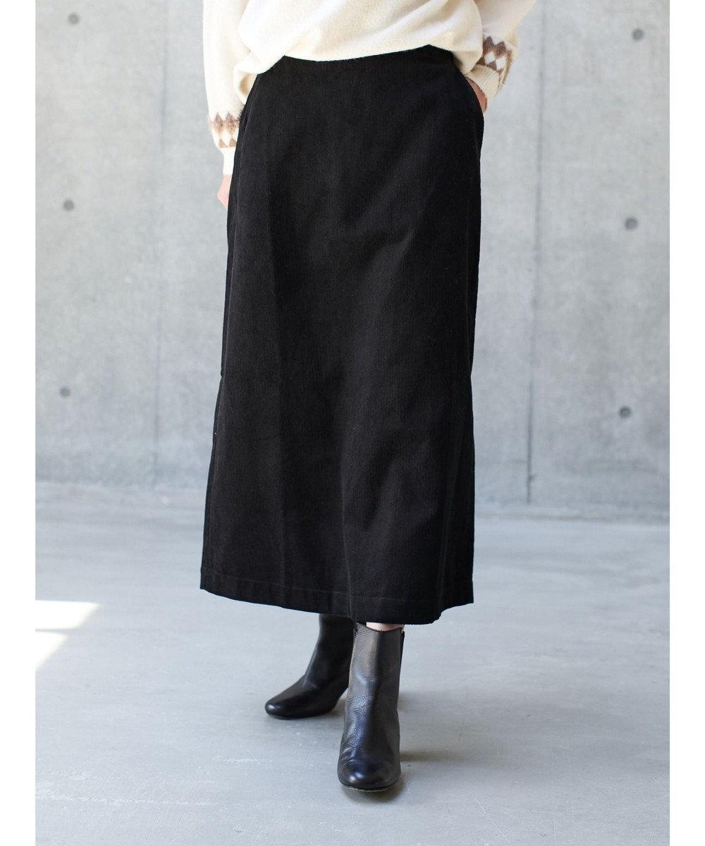 koe コーデュロイスカート Black