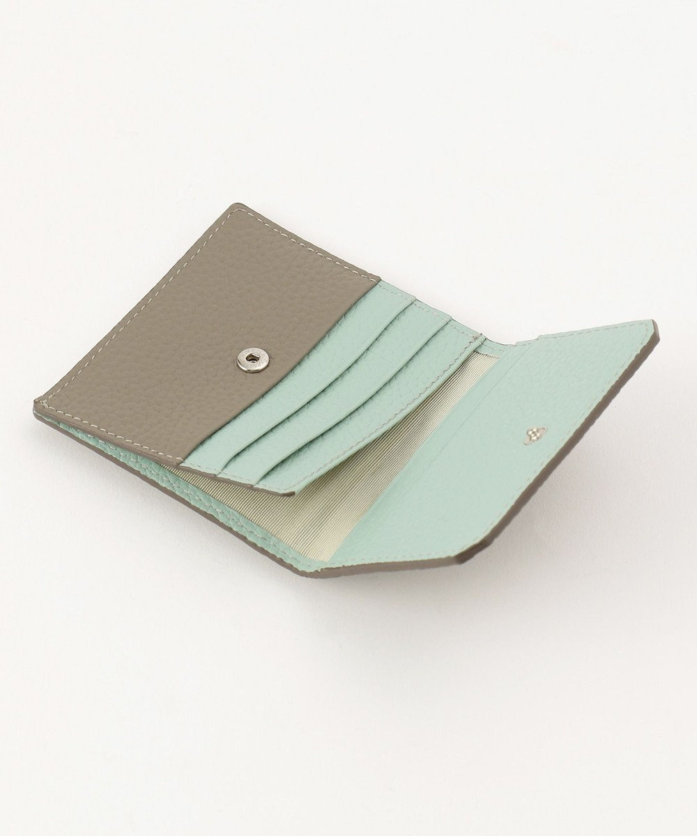 CYPRIS 《HELENA》【シャーレ】カブセ付きマネーフラップ グレー×ミント[09]