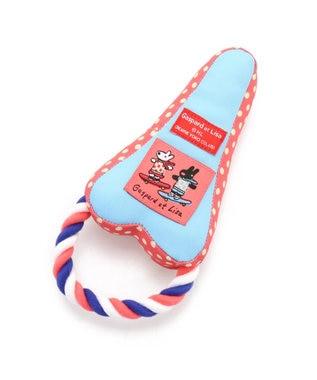 PET PARADISE 【VERYコラボ】リサとガスパール 犬用おもちゃ エッフェル塔 ピンク(淡)