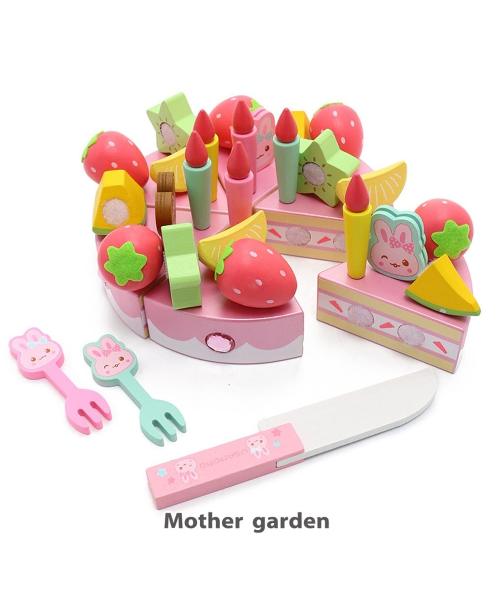 【オンワード】 Mother garden>おもちゃ 木製 おままごと うさもも キラキラデコレーションケーキ ピンク(淡) 0