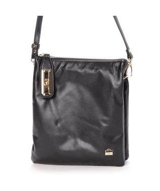 LA BAGAGERIE シープレザー縦型お財布ポシェット ブラック