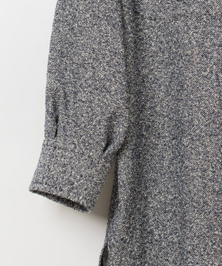GRACE CONTINENTAL ネップツイードシャツ ホワイト