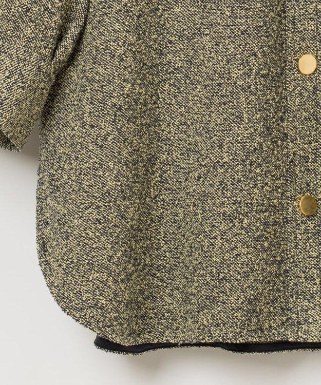 GRACE CONTINENTAL ネップツイードシャツ