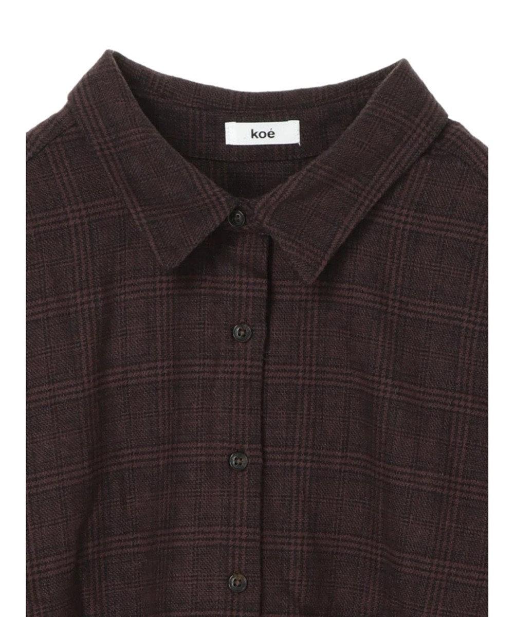 koe チェックBIGシャツ Gray