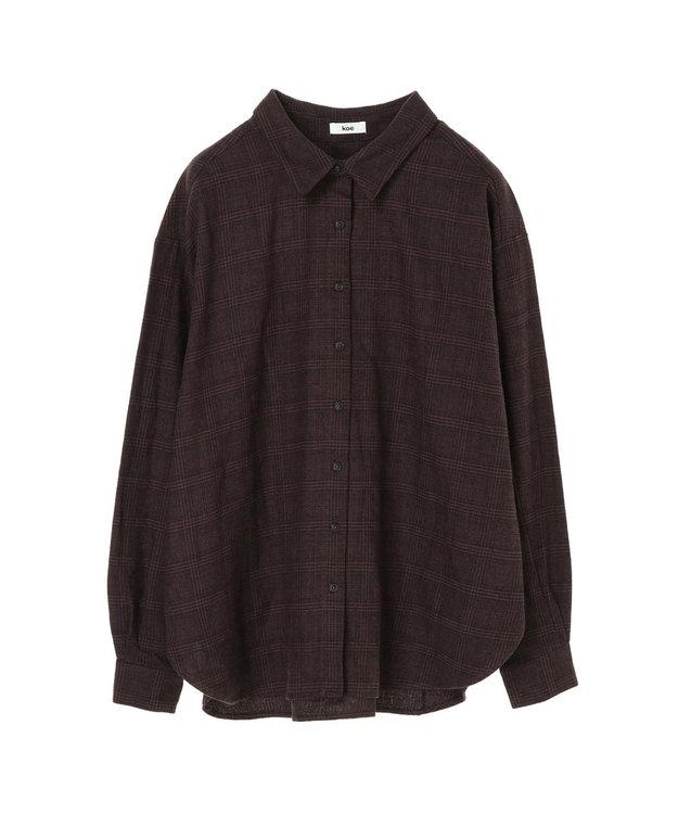koe チェックBIGシャツ