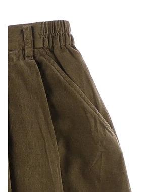 koe 細コーデュロイロングスカート Terracotta