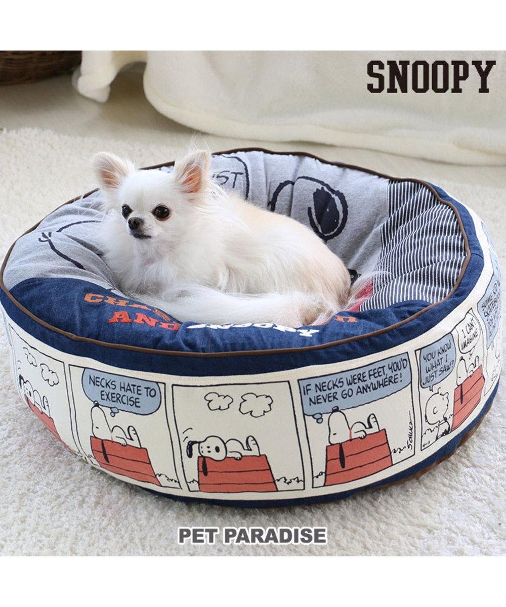 PET PARADISE スヌーピー ペットカドラー 80'S クッション M グレー