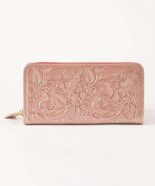 GRACE CONTINENTAL BI Zipped Wallet ピンクゴールド
