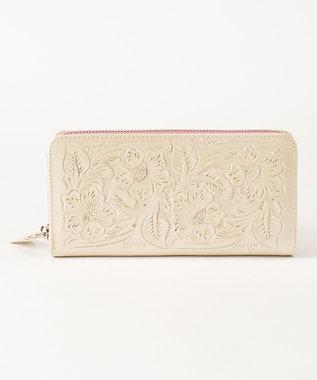 GRACE CONTINENTAL BI Zipped Wallet パールホワイト