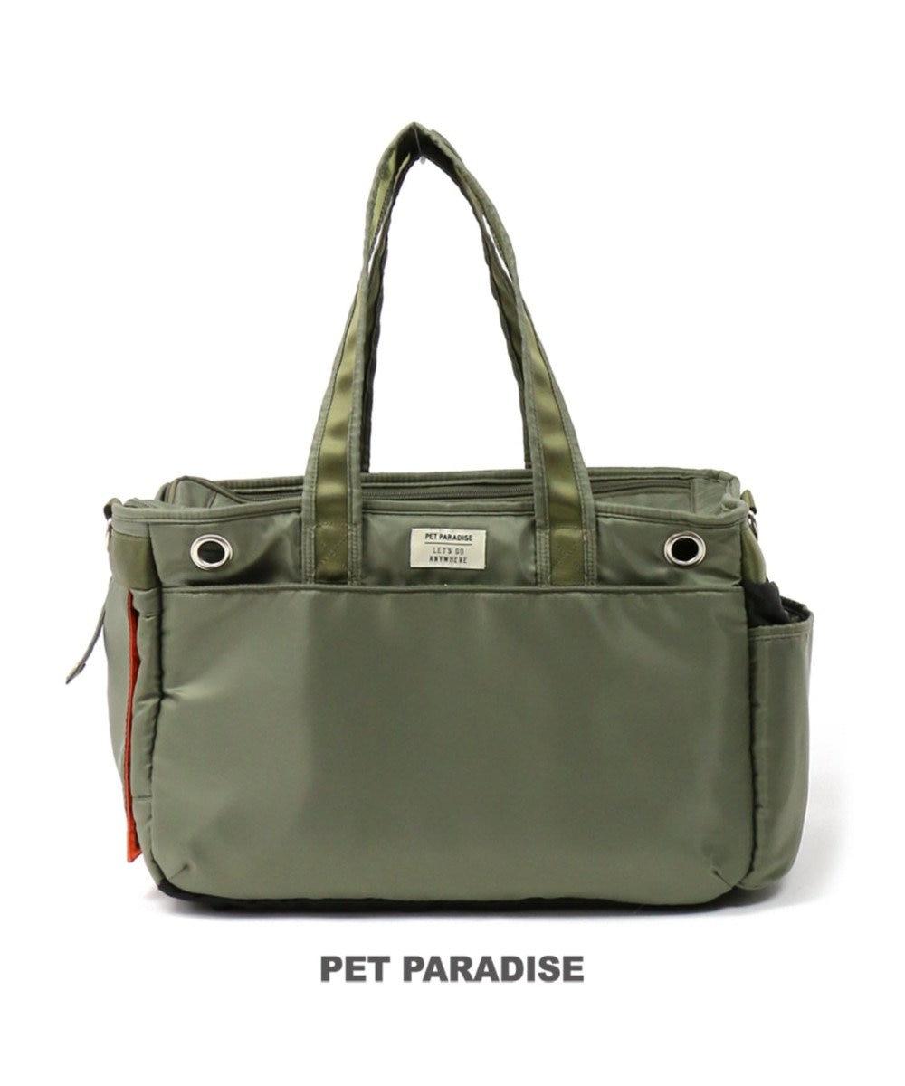 PET PARADISE ペットパラダイス ペットキャリーバッグM カーキBOX〔小型犬〕 カーキ