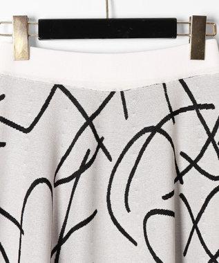 GRACE CONTINENTAL パターンジャガードニットスカート ホワイト