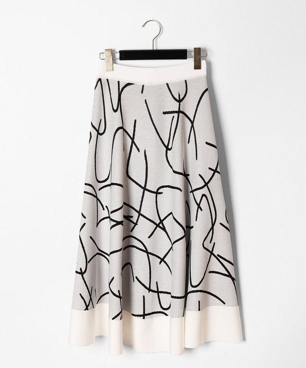 GRACE CONTINENTAL パターンジャガードニットスカート