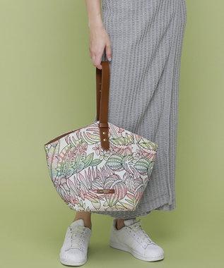 TOPKAPI カラフルリーフ柄ジャガード ワンハンドルトートバッグ イレギュラー