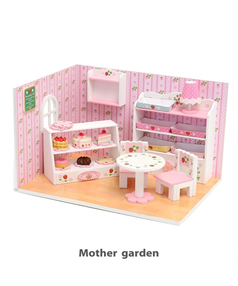 【オンワード】 Mother garden>おもちゃ マザーガーデン ミニチュアハンドメイド ケーキ屋さん ピンク(淡) 0