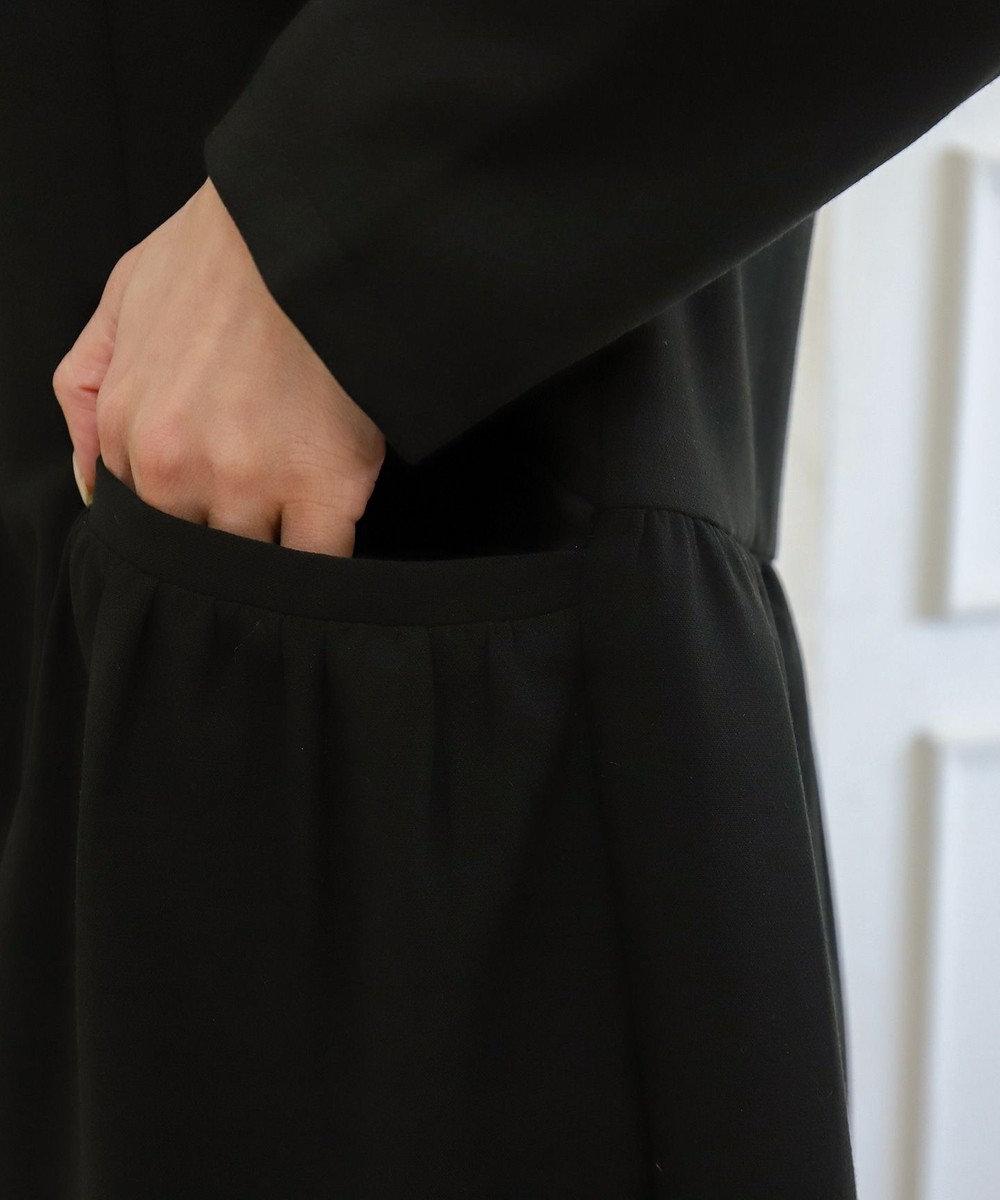 Tiaclasse 【洗える】大人可愛いフーデッドギャザーコート ブラック