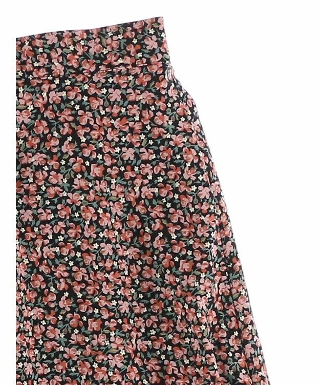 Green Parks 花柄フレアスカート