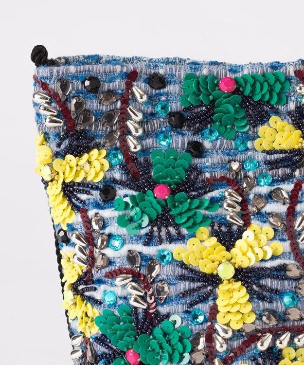 GRACE CONTINENTAL フラワー刺繍ミニバッグ
