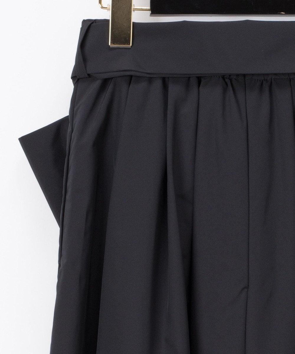 GRACE CONTINENTAL リボンタックロングスカート ブラック