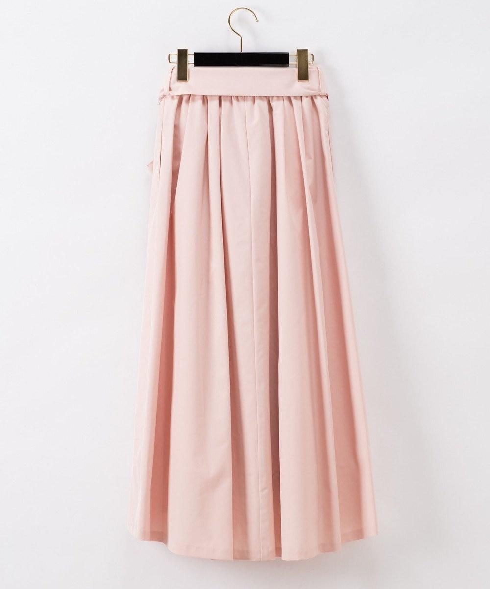 GRACE CONTINENTAL リボンタックロングスカート ピンク