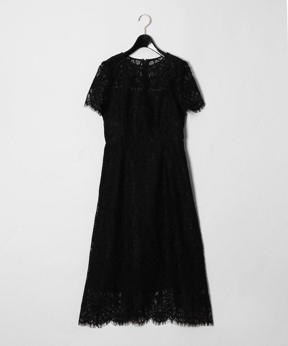 GRACE CONTINENTAL フラワーレースドレス ブラック