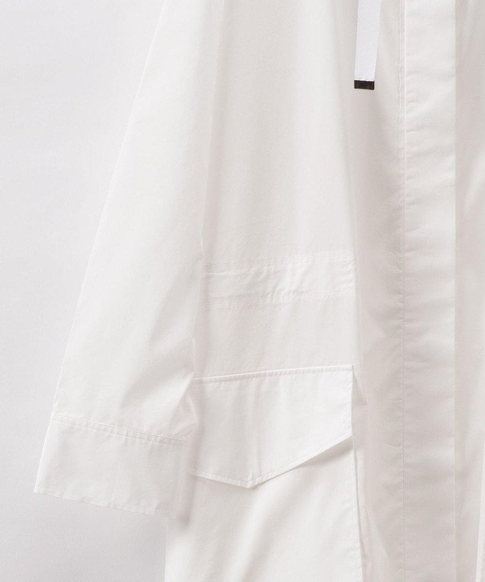 GRACE CONTINENTAL バックプリーツシャツカーディガン ホワイト