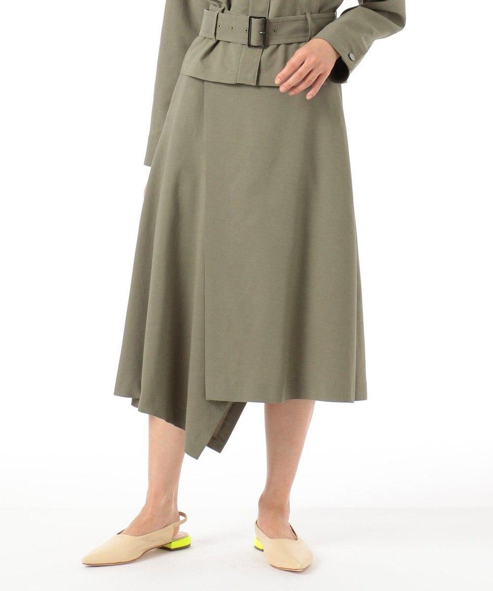 GRACE CONTINENTAL ラップイレギュラースカート カーキ
