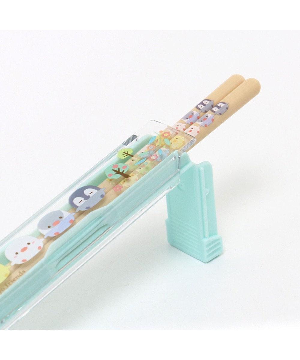 Mother garden こぴよフレンズ 箸&ケースセット 《リーフ柄》 18cm 日本製 0