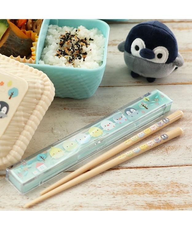 Mother garden こぴよフレンズ 箸&ケースセット 《リーフ柄》 18cm 日本製